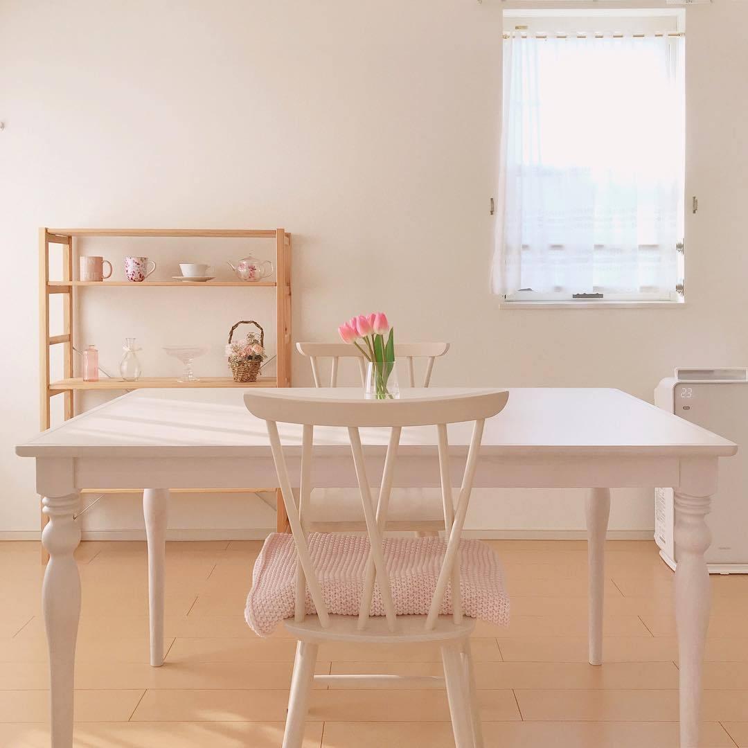 Franc Franc アルパ ダイニングテーブル ホワイト(W1300)