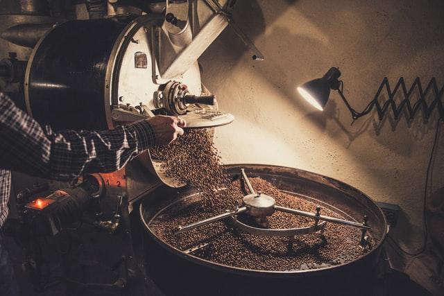 珈琲豆の焙煎
