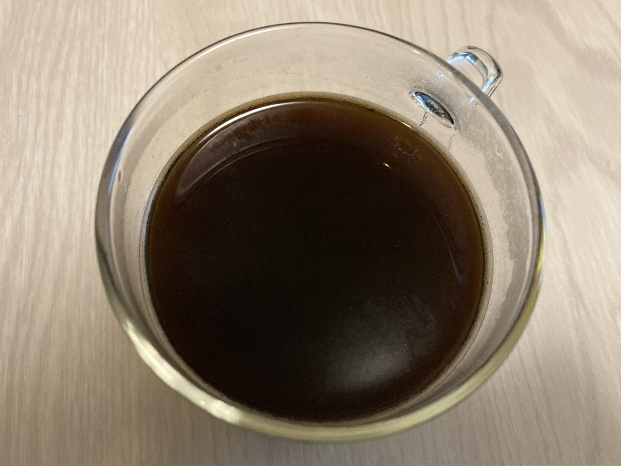 フレンチプレスで抽出したコーヒー