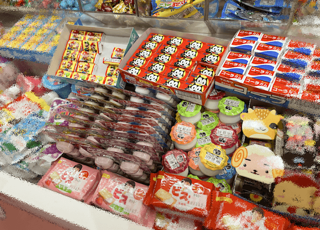 駄菓子屋の様子
