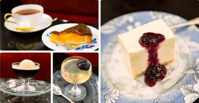 フランソア喫茶室のレアチーズケーキ