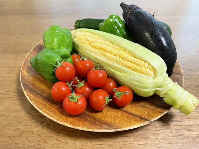 夏野菜をたっぷりとる