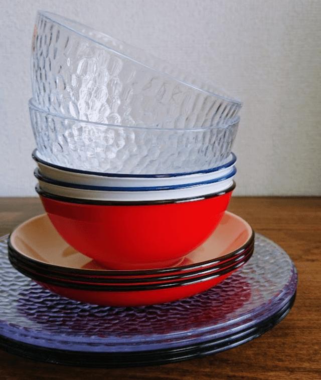 セリアガラス風食器