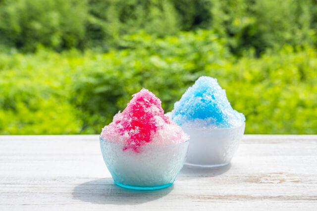かき氷やアイスクリームで涼しく